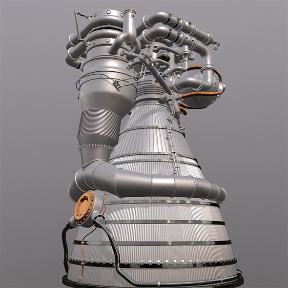 3DOcean Rocket Engine J1F1C 21170046