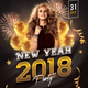 New Year 2018 Party Flyer - GraphicRiver Item for Sale