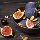 Fig Isolated on Wooden Background - VideoHive Item for Sale