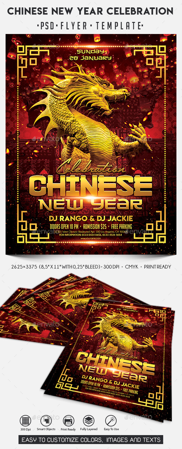 Chinese New Year Celebration - Events Flyers