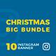 Christmas Instagram Banners Big Bundle - GraphicRiver Item for Sale