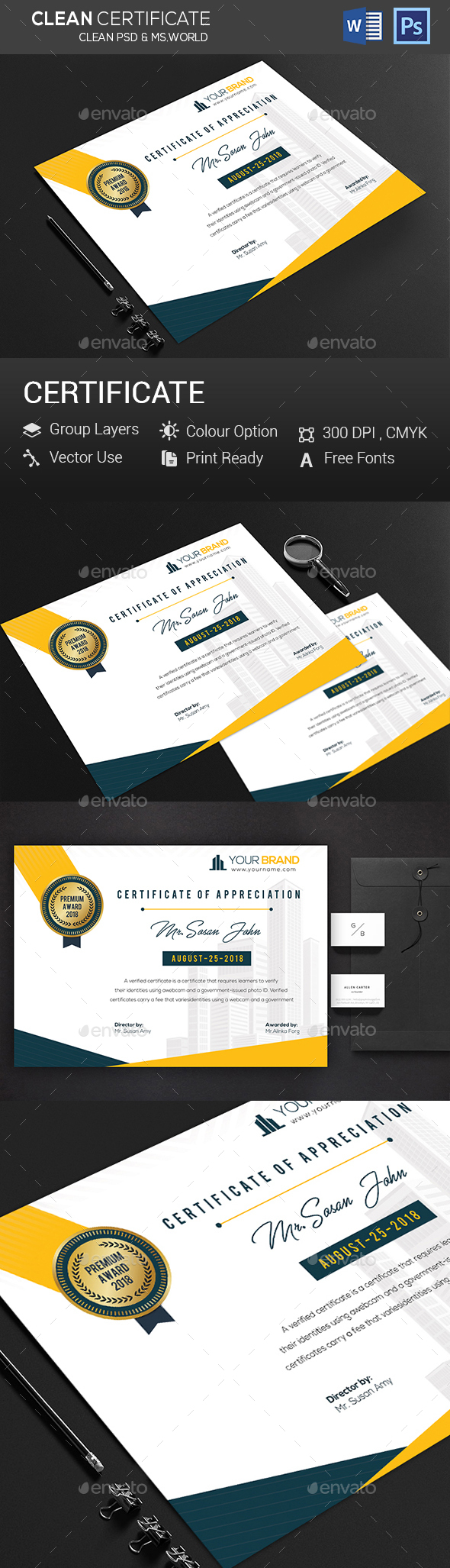 Certificate - Clubs & Parties Events