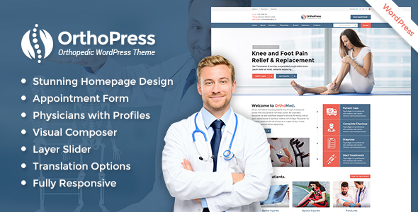 OrthoPress - Orthopedic WordPress Theme - Health & Beauty Retail