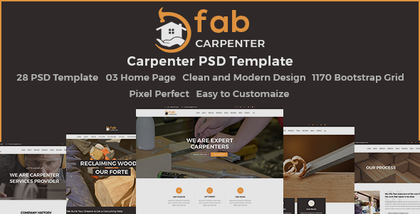Fab Carpenter - PSD Template