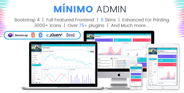 ThemeForest Minimo Pro Responsive Bootstrap 4 & 3 Admin Dashboard Template UI and WebApp Template 21170985