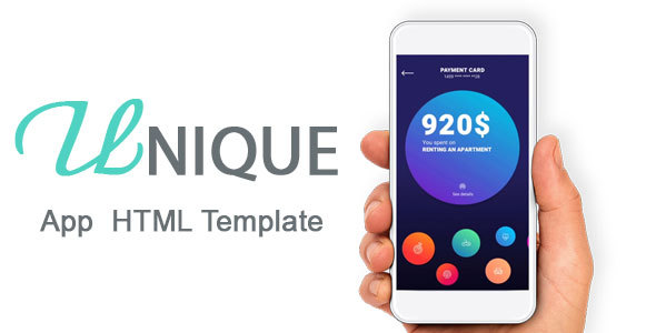 ThemeForest Unique One Page App HTML5 Template 21171003