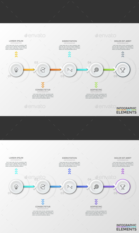 GraphicRiver Modern Infographic Timeline 2 Colors 21171313