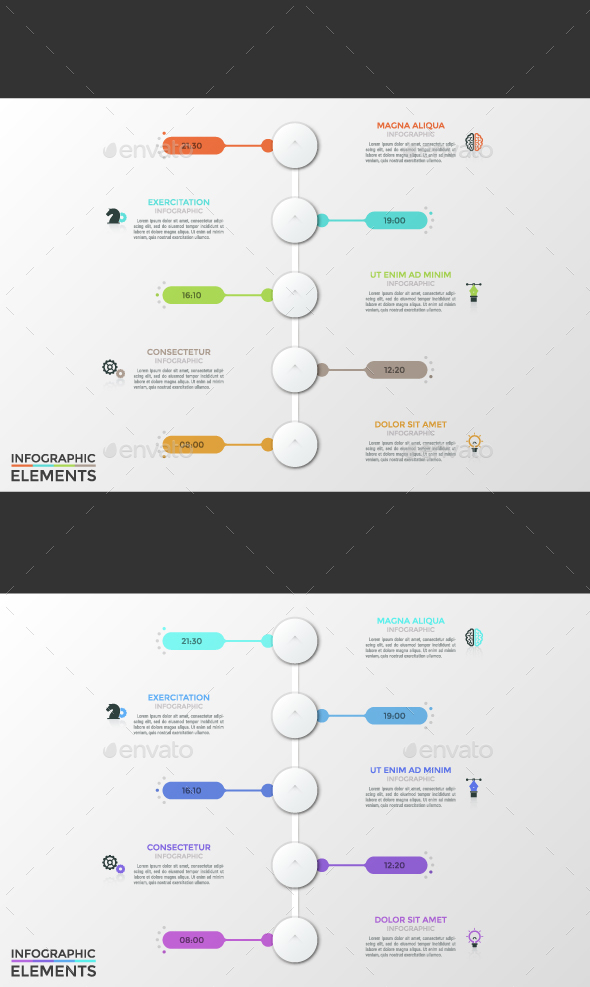 GraphicRiver Futuristic Timeline 2 Colors 21171318