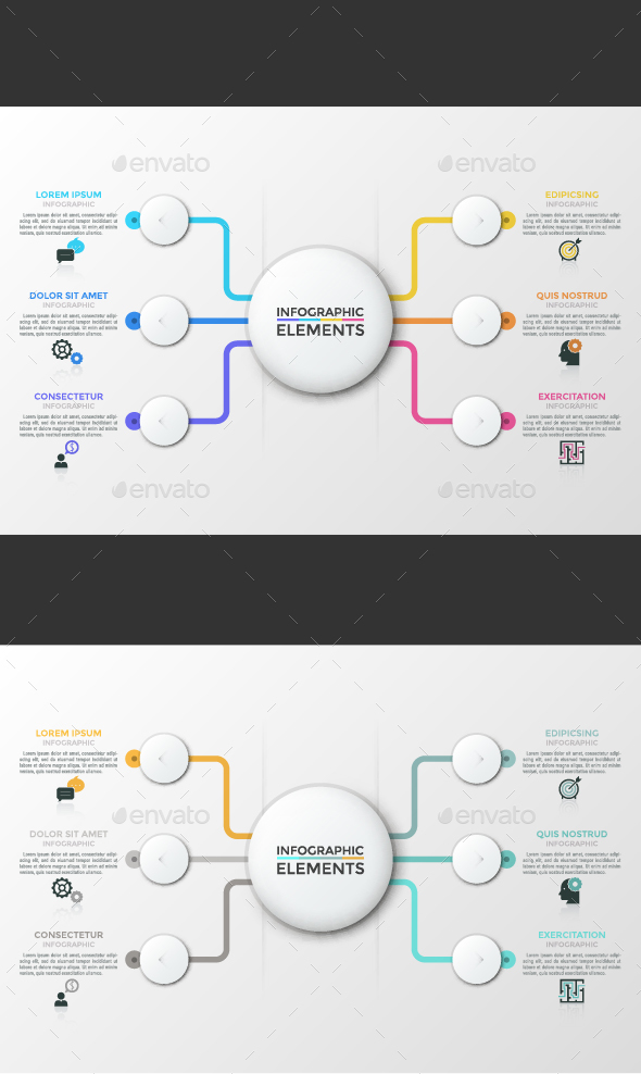 GraphicRiver Modern Infographic Choice Template 2 Colors 21171321