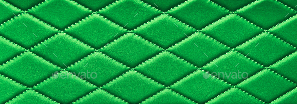 green stitched leather - Stock Photo - Images