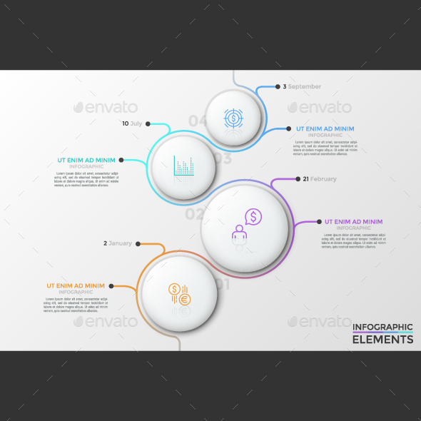 Abstract Infographic Process Template