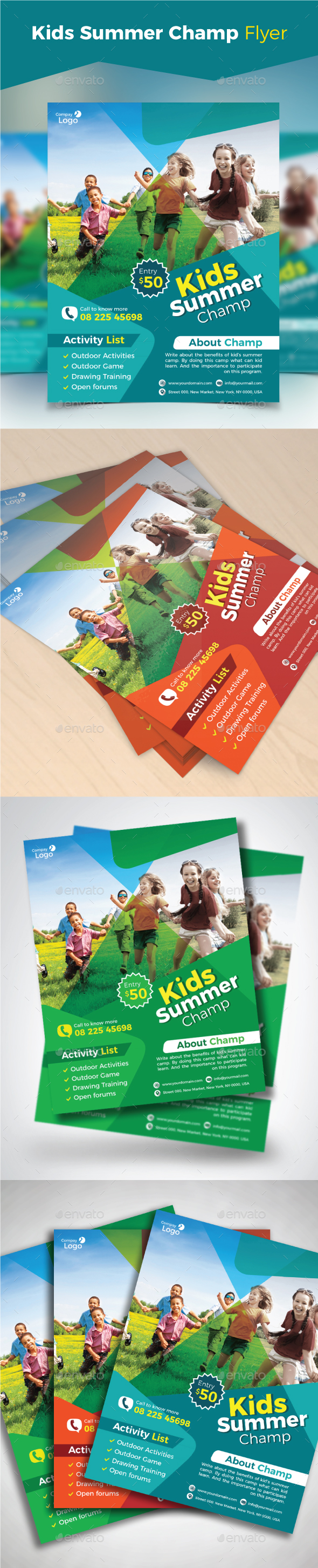 GraphicRiver Kids Summer Camp Flyer 21171371