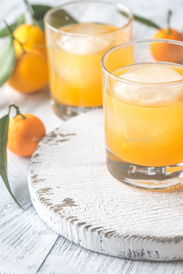 Two glasses of orange juice - Stock Photo - Images