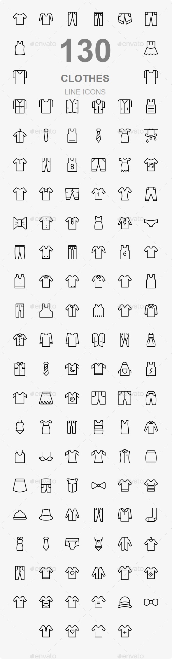 130 Clothes Line Icons