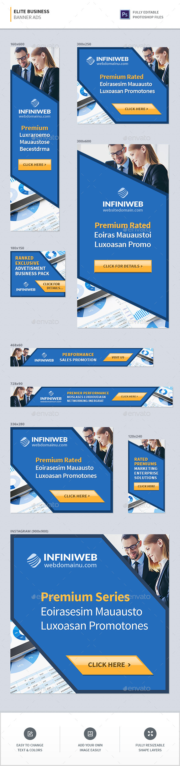 GraphicRiver Elite Business Banners 21171693