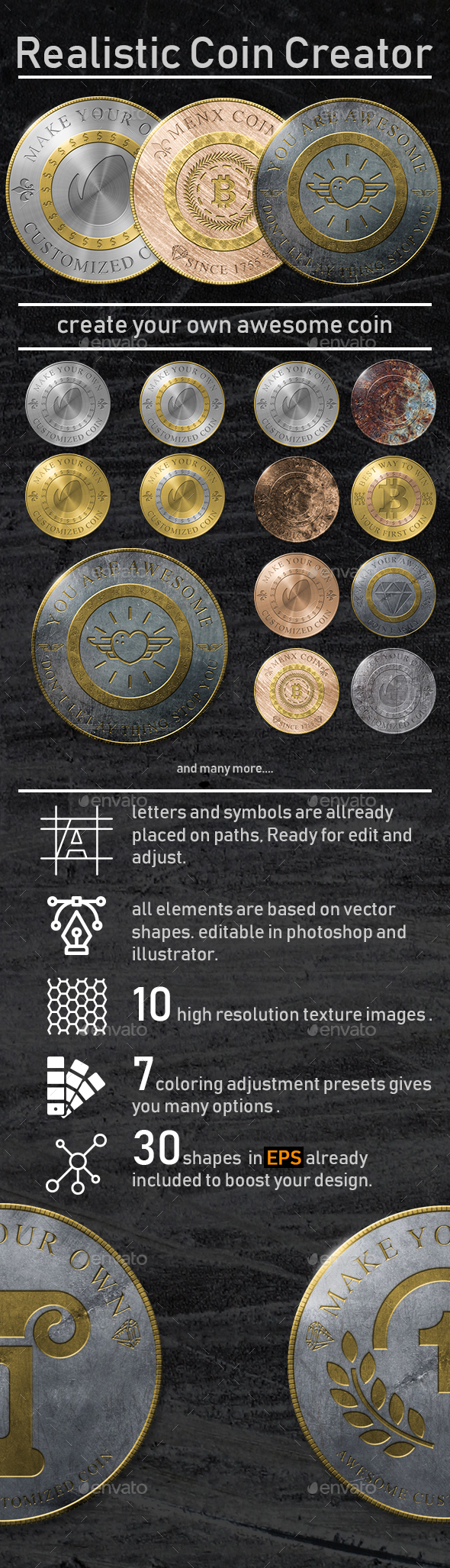 GraphicRiver Realistic Coin Creator 21171754