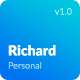 Richard — UX Designer Resume\Portfolio HTML Template - ThemeForest Item for Sale