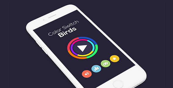 CodeCanyon COLOR SWITCH BIRDS WITH ADMOB IOS XCODE FILE 21171963