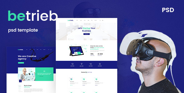 ThemeForest Betrieb- Creative business PSD Template 21172097