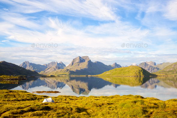 Lofoten Islands landscape - Stock Photo - Images