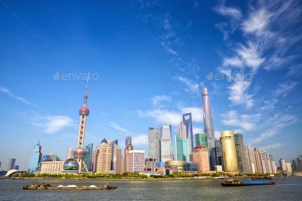 Skyline of Shanghai - Stock Photo - Images