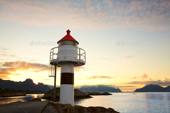 Lighthouse in Lofoten - Stock Photo - Images