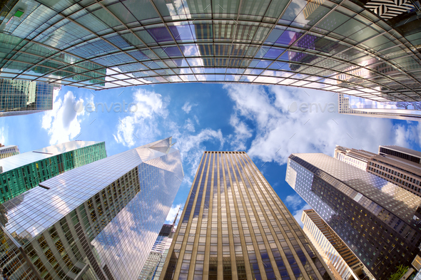 Midtown Manhattan skyscrapers - Stock Photo - Images