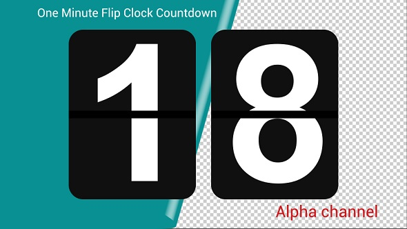 VideoHive One Minute Flip Clock Countdown 21172335