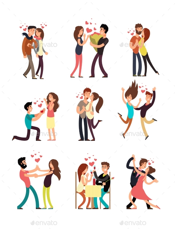 GraphicRiver Happy Young Couples in Love 21172441