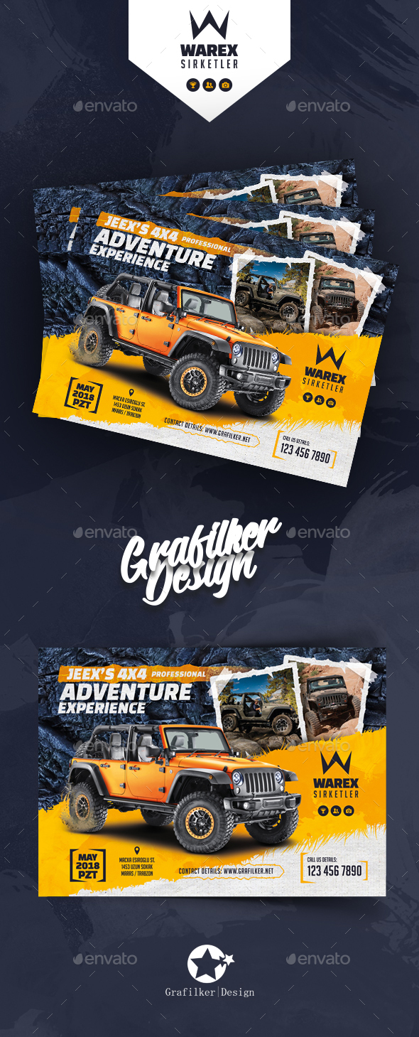 GraphicRiver Off-Road Adventure Flyer Templates 21160054