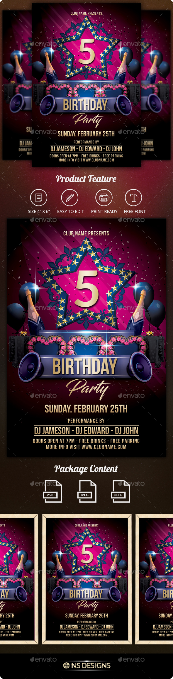 GraphicRiver Birthday Flyer 21172559