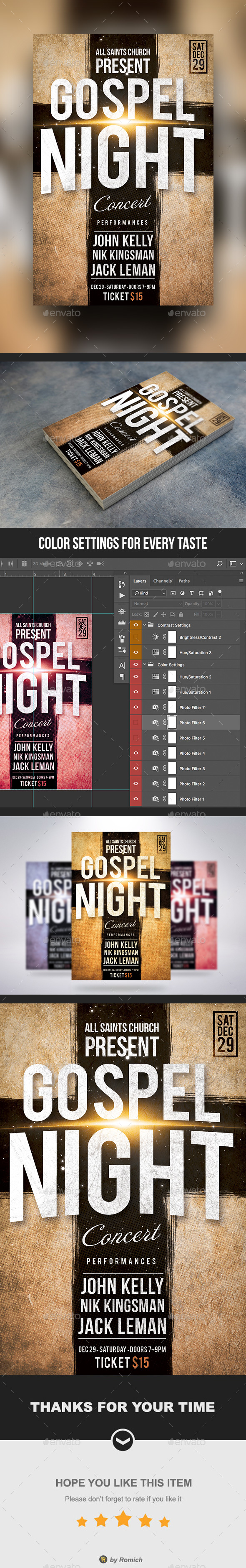 GraphicRiver Gospel Night Church Flyer 21172562
