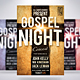 Gospel Night Church Flyer - GraphicRiver Item for Sale