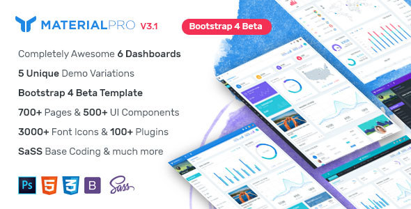 MaterialPro - Material Design Bootstrap 4 Admin Template