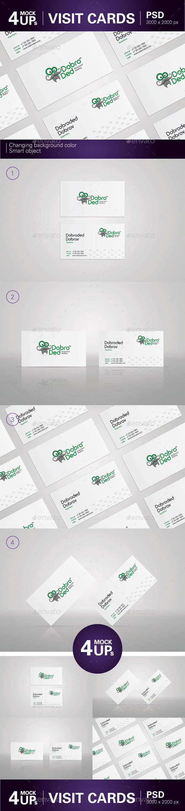 GraphicRiver Visit Card MockUp 21172843