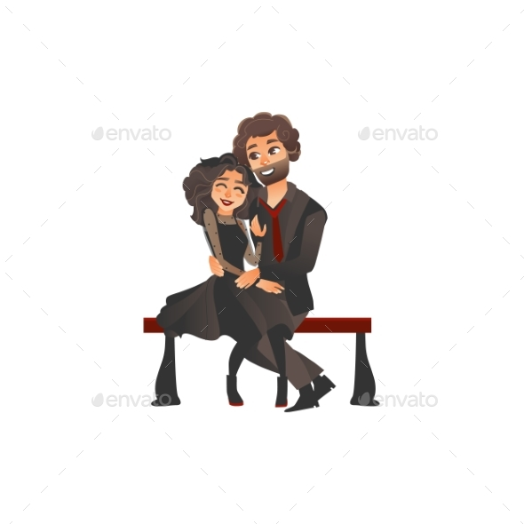 GraphicRiver Young Gothic Couple 21173032