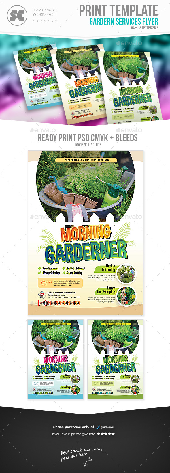 GraphicRiver Garden Service Flyer 21173082