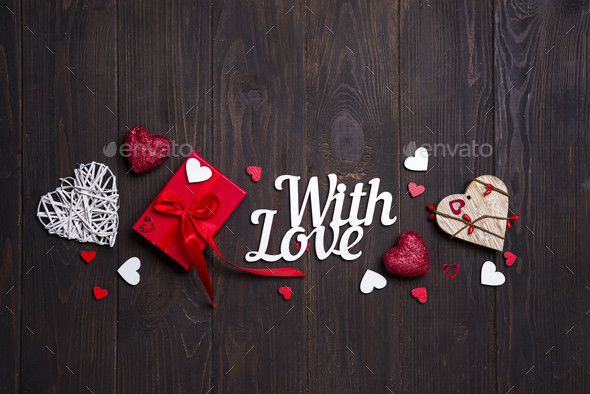 Happy valentines day card. border design. - Stock Photo - Images