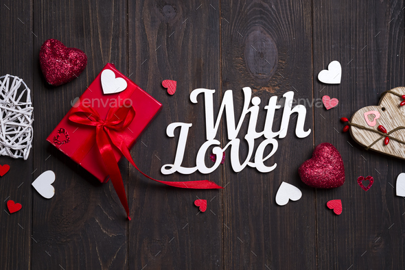 Valentines day, wedding or other holiday decorations, frame background. - Stock Photo - Images