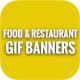 Animated GIF Food & Restaurant Banners Ad