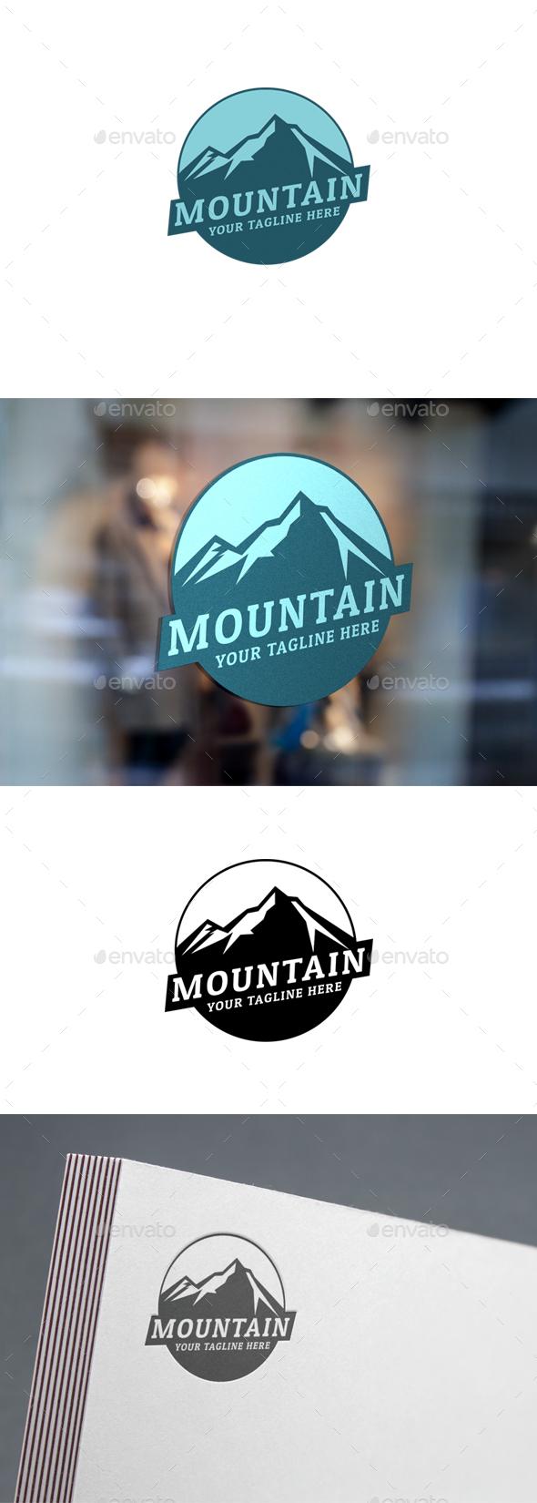 Modern Mountain Logo - Logo Templates