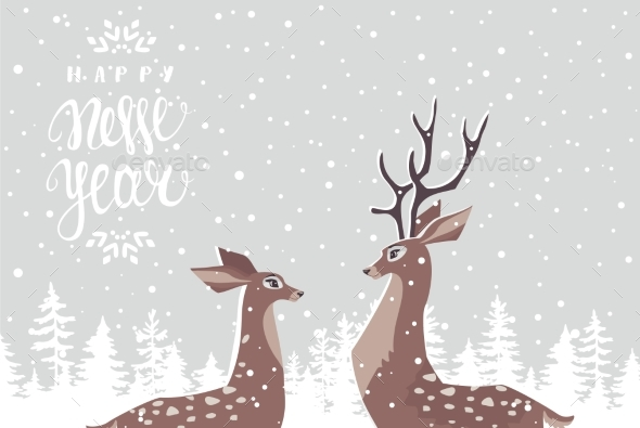 GraphicRiver Deer Couple 21173324