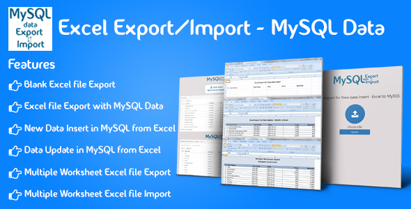 CodeCanyon Excel Export Import MySQL Data 21173682