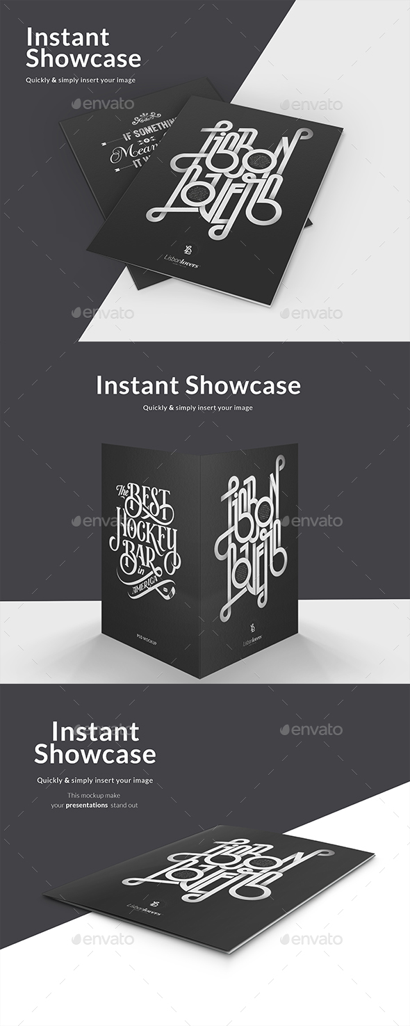GraphicRiver Dark Folder Mockup 21173710