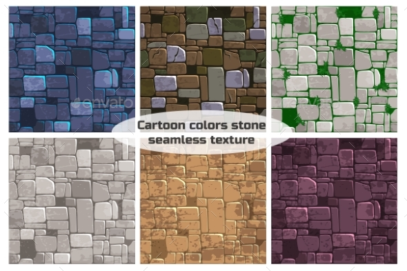 GraphicRiver Seamless Background Texture Different Color Stone 21173787