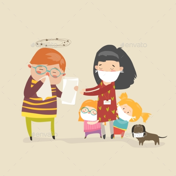 GraphicRiver Social Worker with Kids 21173791