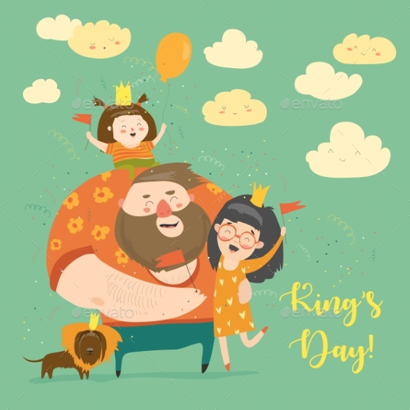 GraphicRiver Family Celebrating Kings Day 21173793