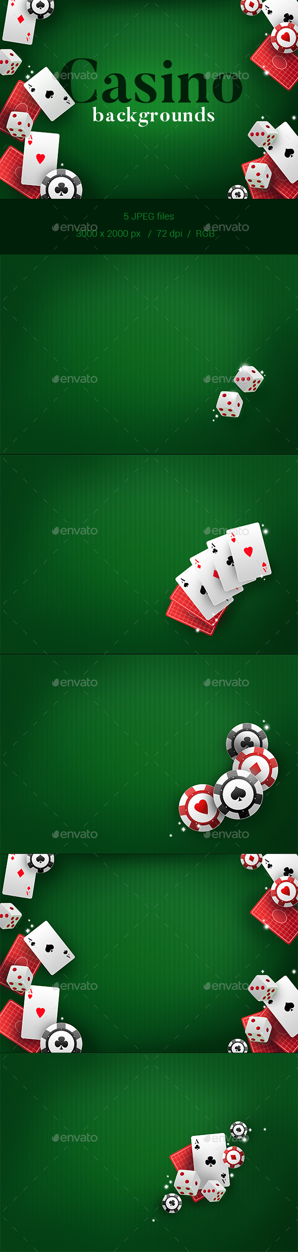 GraphicRiver 5 Casino Backgrounds 21173812