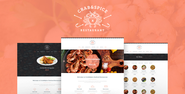 Crab & Spice | Restaurant and Cafe WordPress Theme - Restaurants & Cafes Entertainment
