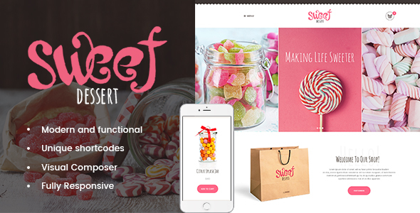 Sweet Dessert | Sweet Shop & Cafe WordPress Theme - Food Retail